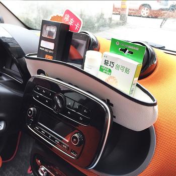 Deska rozdzielcza samochodu szczeliny w siedzeniach torba do przechowywania kieszeń wnętrze układanie Tidying akcesoria dla Smart 451 453 fortwo forfour Mini Cooper tanie i dobre opinie Schowek podłokietnik Artificial Leather