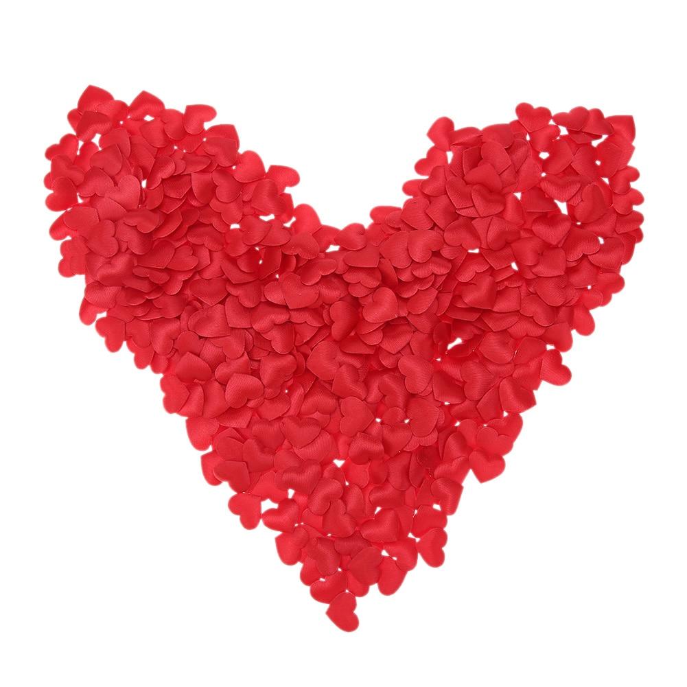 100pcs/Set Silk Rose Love Heart Shaped Sponge Petals Romantic Bed Decor Wedding Supplies Handmade DIY Petals Birthday Table Part