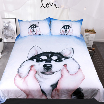 BEST.WENSD Customized High-quality bed set  3d bedding dachshund bedroom comforter set Cute nimal kids bedding comforter sets