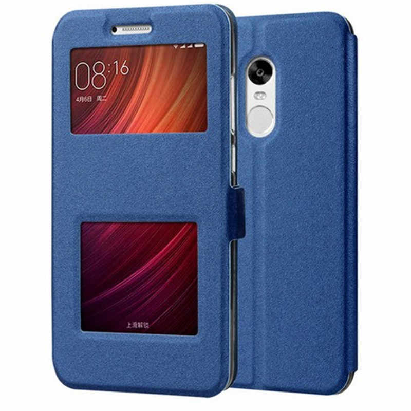 Luxury Front Smart Window View Leather Flip For Redmi Note 5 7 6 Pro 5 Plus 4X 4A For Xiaomi 9 SE F1 Mi 8 A2 Lite Max 2 3 Cover