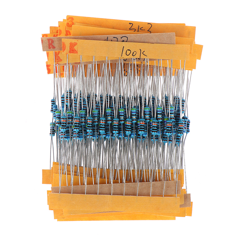 Metal película resistencia surtido set kit 300 unidades 30 valores por cada 10 unidades
