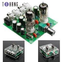 цена на DIY Kit AC 12V 6J1 Tube Fever Pre Amplifier Preamp AMP Pre-Amplifier Board Headphone Buffer Module Stereo Potentiometer Valve
