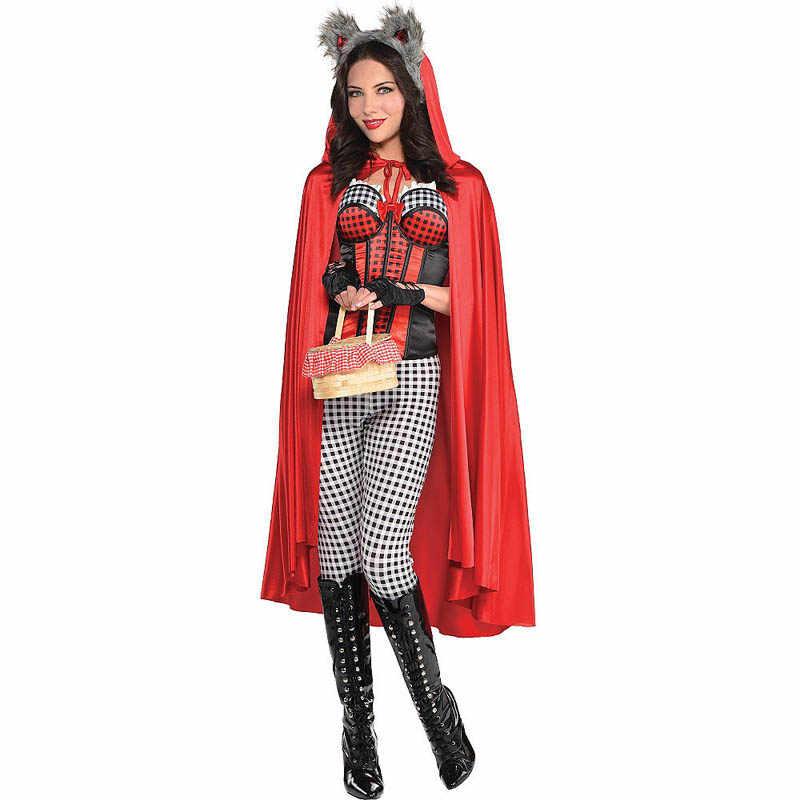 Kostum Dewasa Polos Superhero Jubah Vampir Cosplay Kostum Halloween untuk Wanita