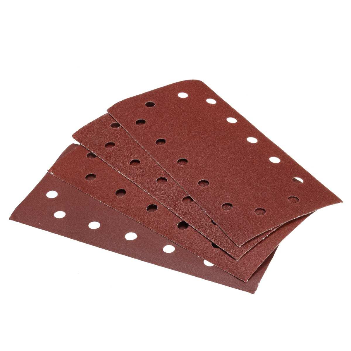 10pcs 115mm X 230mm 14 Holes Abrasive Sanding Paper 60/80/120/240 Grit Sand Paper