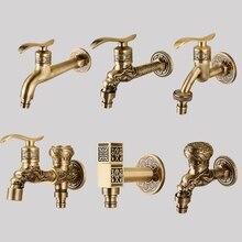 IMPEU robinet de Machines à laver, joli pour étangs à serpillière, jardin, extérieur, balcon, robinet 1/2 pouces, rapidement ouvert, Bronze Antique