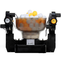 100V 240V professional double head table tennis ball machine ping pong robot automatic shooting server pitching machine S 1001