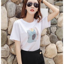 T-Shirts Print Women T Shirts O-Neck Short Sleeve Summer Tops Tee