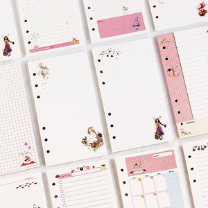45sheet/book A5 A6 Cute Cartoon Notebook Loose Leaf Notepad Refill DIY Diary Cover PP Binder Agenda Shell Spiral Refill Pages(China)