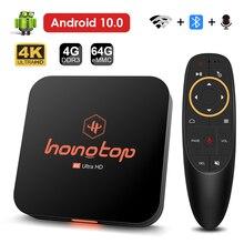 2021 android caixa de tv android 10 4gb 32gb 64gb 4k h.265 media player vídeo 3d 2.4g 5ghz wifi bluetooth caixa de tevê inteligente caixa superior ajustada