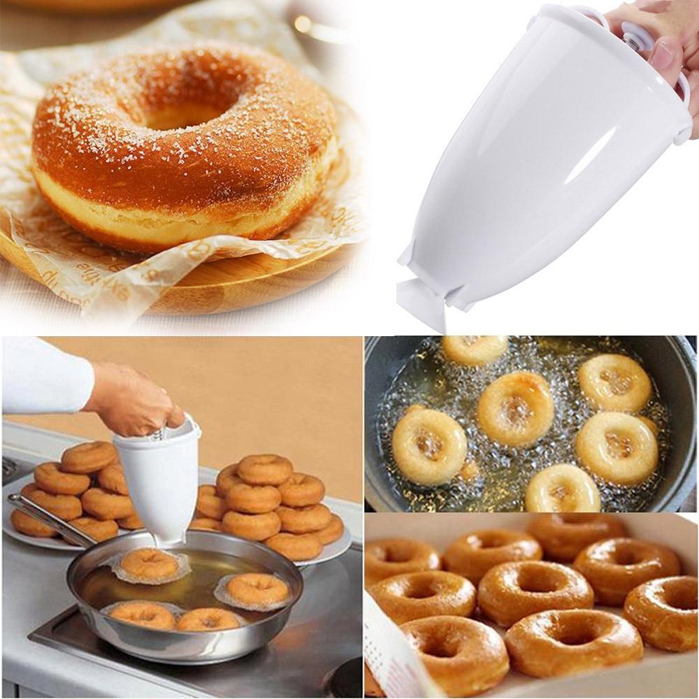 Plastic Doughnut Maker Machine Mold DIY Tool Kitchen Pastry Making Bake Ware .