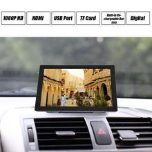 TV portátil de 14 pulgadas, HD, ATSC, TV Digital, reproductor de Audio y vídeo para coche, compatible con MP4, HDMI, Monitor, enchufe Estadounidense para el hogar y el coche