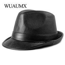 Шапка wuaumx jazz Мужская винтажная Панама из искусственной