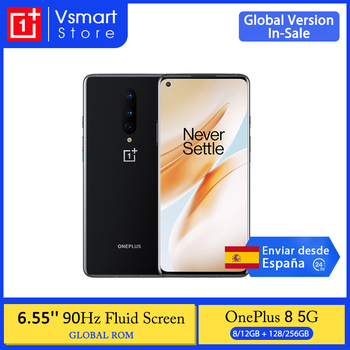 Global Rom OnePlus 8 5G Smartphone Snapdragon 865 Octa Core 6.55'' 90Hz AMOLED Screen 48MP Triple Cams 4300mAh Warp Charge 30T