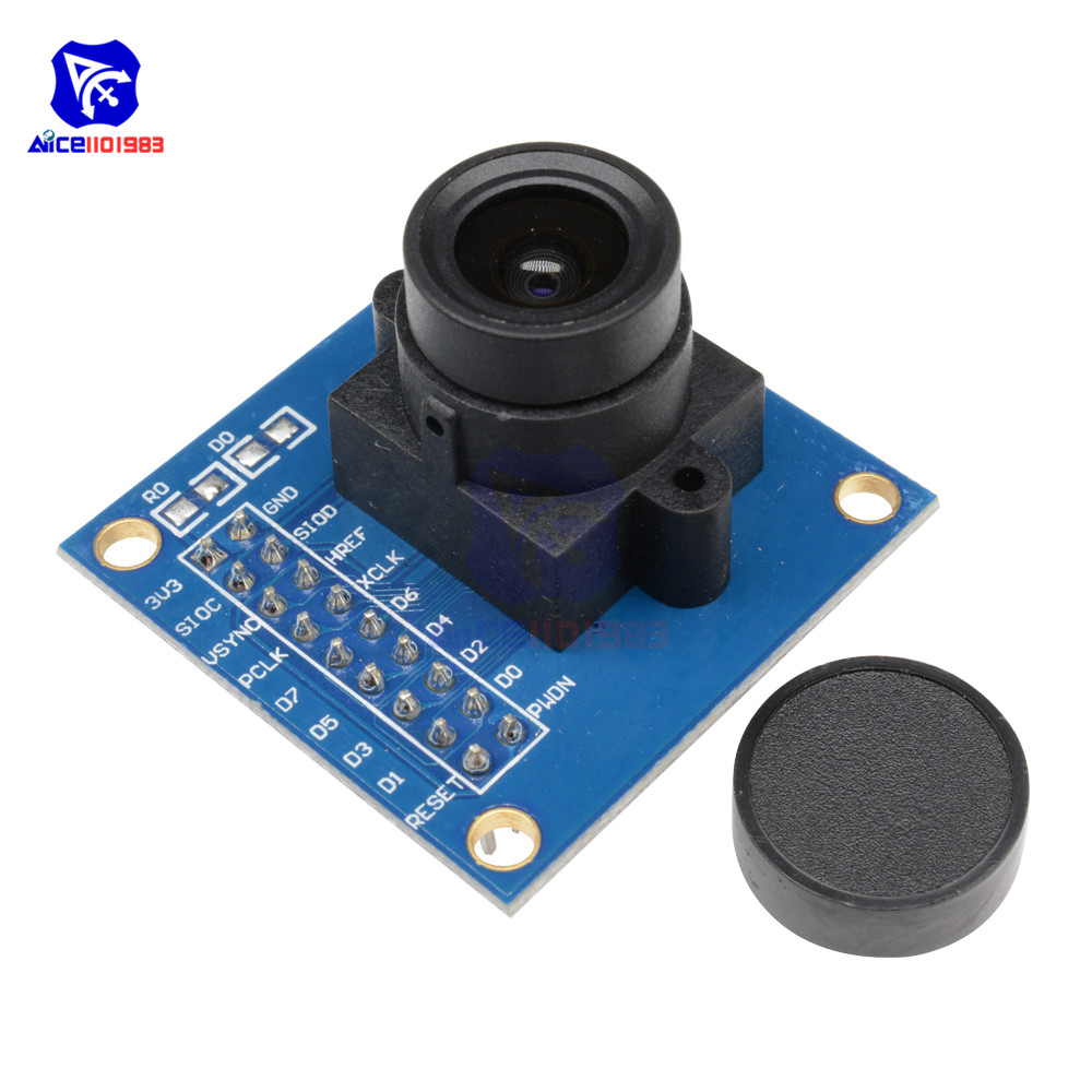Diymore OV7670 300KP Camera Module Supports VGA CIF 640X480 Auto Exposure Control Display Compatible I2C Interface For Arduino