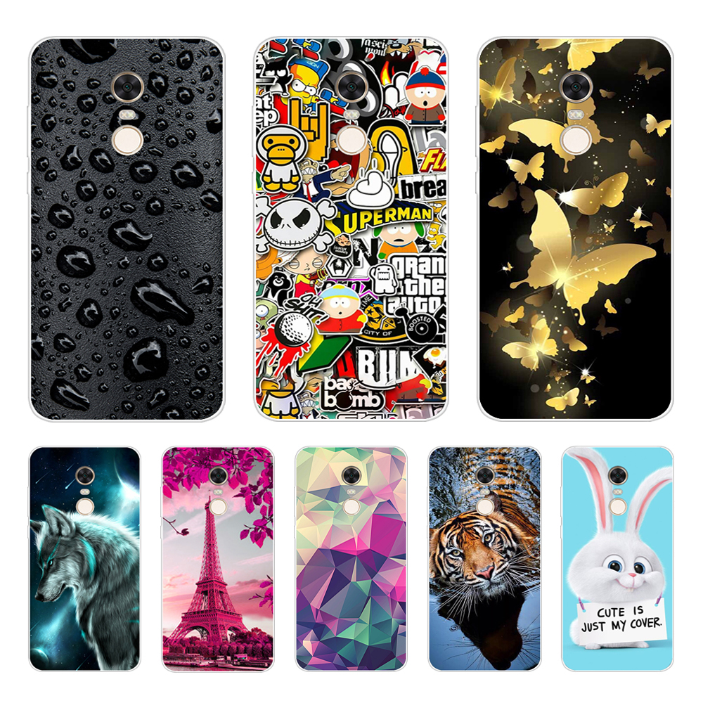 For Xiaomi Redmi 5 5Plus Case Silicone Back Cover For Xiomi Redmi 5 Plus Case Pattern For Xiaomi Redmi 5 Plus Redmi5 Phone Cases