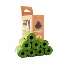 Compostable собачьи какашки, кукурузный крахмал, экологически чистые 120 отсчетов 17 микрон ASTM D6400 биоразлагаемые кошачьи мешки для мусора, мешок для мусора