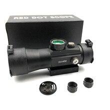 Mirino per caccia esterna 3X44 Red Green Dot mirino ottica tattica cannocchiale da puntamento misura 11/22mm binario per cannocchiale da caccia fucile ad aria compressa
