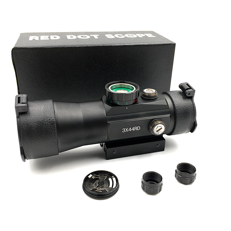 Outerdoor Hunting  3X44 Red Green Dot Sight Scope Tactical Optics Riflescope Fit 11/22mm Rail For Hunting Rifle Air Gun Scopes