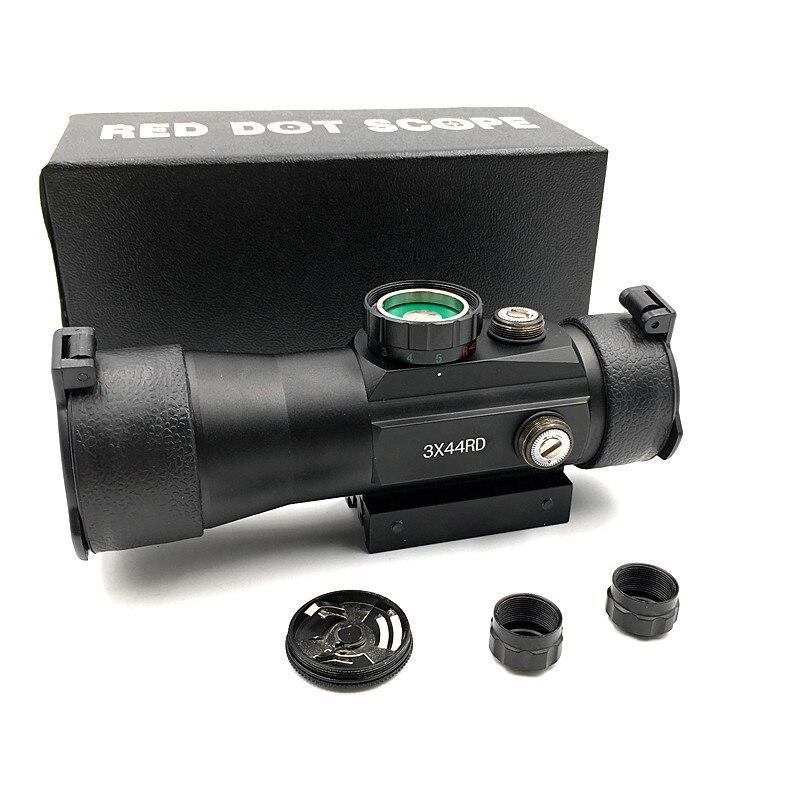 Outerdoor Jagd 3X44 Rot Grün Dot Sight Scope Tactical Optik Zielfernrohr Fit 11/22mm Schiene Für jagd Gewehr Air Gun Scopes