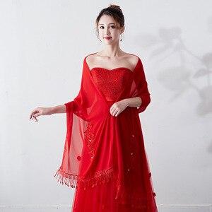 Image 3 - Janevini 우아한 여름 짧은 신부 쉬폰 케이프 shawls 여성 shrug 볼레로 랩 레이스 applique 페르시 웨딩 파티 액세서리