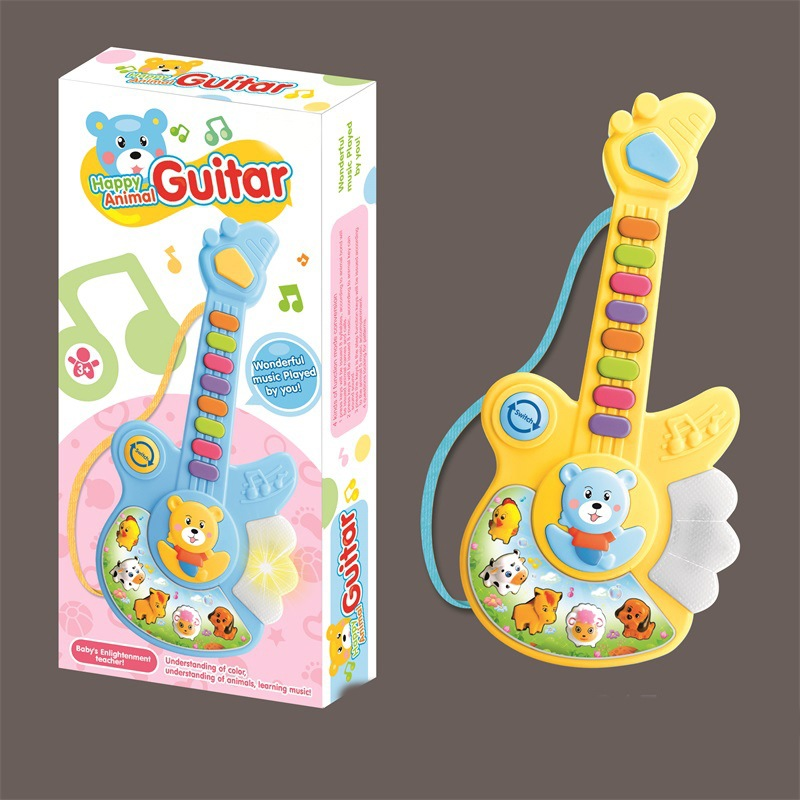 CHILDREN'S Cartoon Music Series Animal Guitar Electronic Keyboard Infants Early Childhood Educational Creative Toy