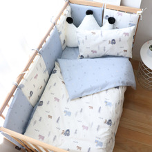 Get more info on the Baby Bedding Set Boy Girl Soft Cotton Kid Bed Linen Kit For Children Crib Bedding Baby Items For Room Decoration Custom Size