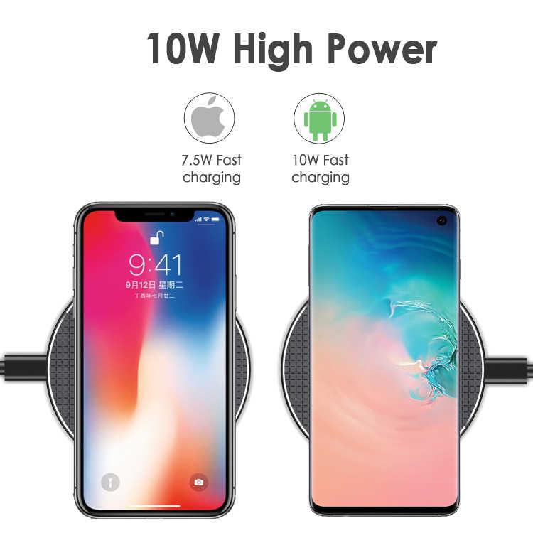 10W Qi szybka bezprzewodowa ładowarka ładowarka bezprzewodowa szybka ładowarka dokująca ładowarka Case Power do Samsung Huawei Phone Accessory