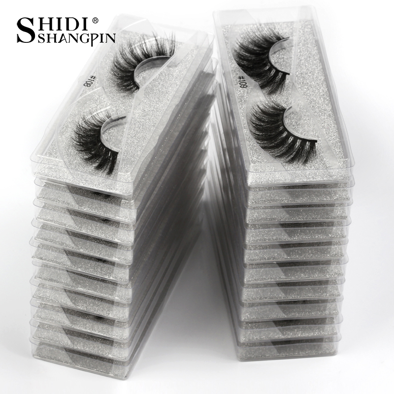 SHIDISHANGPIN Fashion False Eyelashes Wholesale Hand Made 3d Mink Volume Eyelashes Natural Messy Soft Lashes For Makeups In Bulk