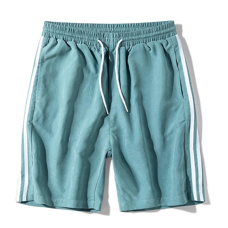 Shorts Men Summer Casual Oversized Elastic Waist Loose Striped Shorts Multi Color Streetwear Shorts Plus Size 7XL 8XL