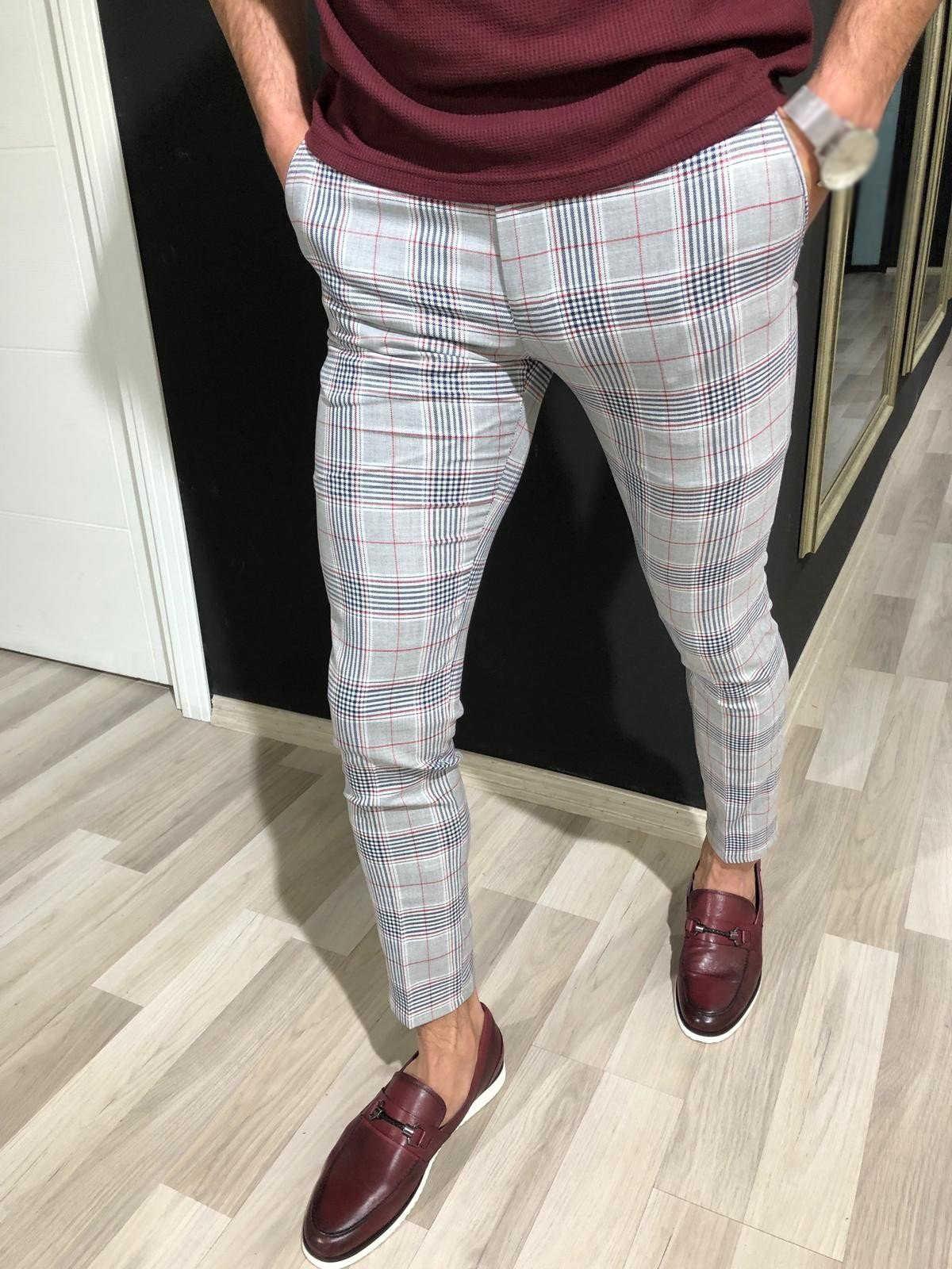 3 モデルメンズスリムフィットのズボン、カジュアルパンツジョギングタータンジョギングスキニー底