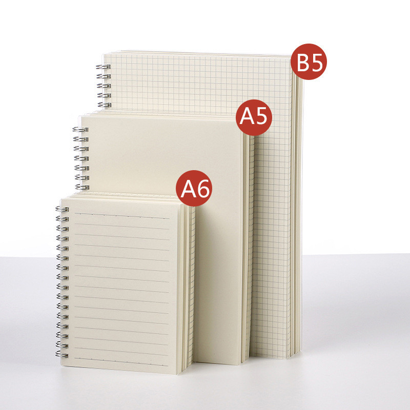 A6/A5/B5 80sheets Simple PVC Cover Creative Coil Notebook Line/Dotted/Grid/Blank Weekly Planner Agendas 2019 School Stationery