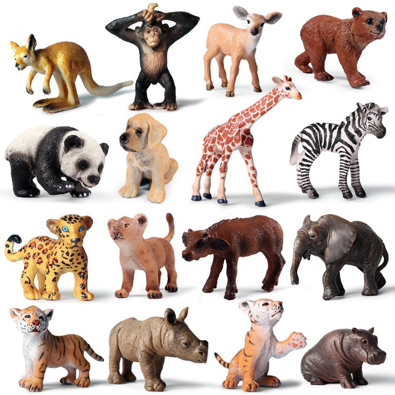 41 Kinds Cute Animal Model Action Figure Small Size Funny Animal Action Figures Collection PVC Children Cognitive Toys