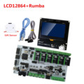 Placa de impresora 3D MKS Rumba Plus Tablero de control Rumba + pantalla LCD de impresora 3d Rep representante Rap 12864LCD partes