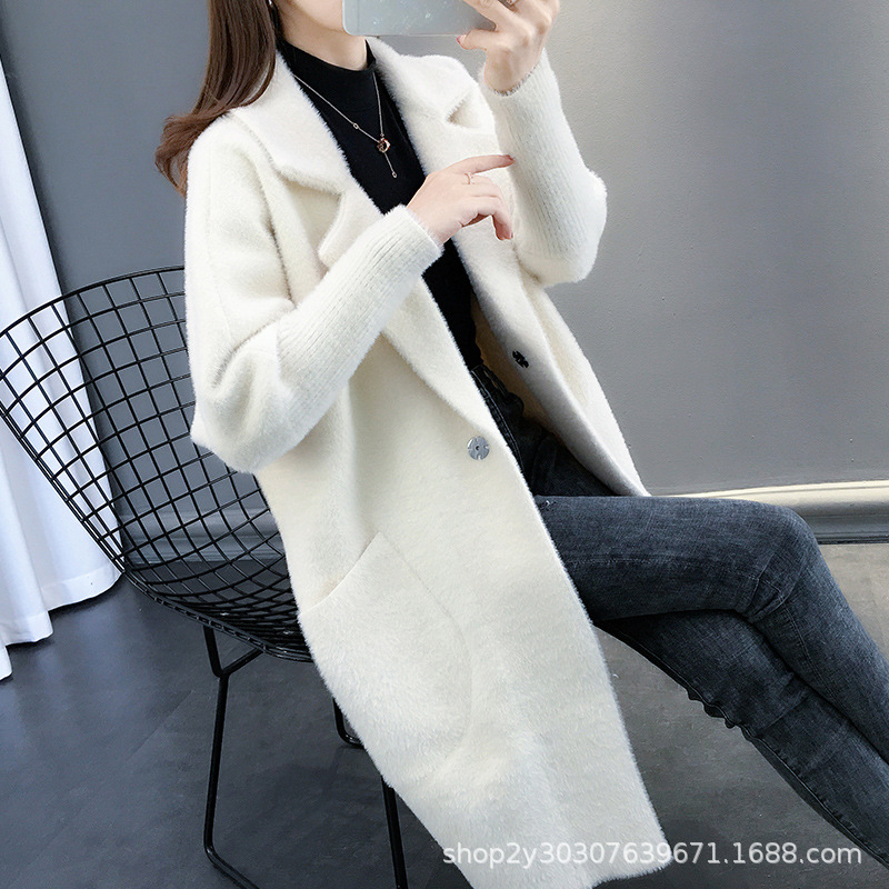 Autumn Female Long Lazy 2020 New Imitated Mink Coat Female Velvet Women Woolen LS21911
