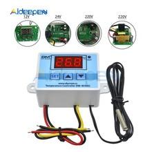 XH-W3002 DC 12V 10A Digital LED Temperature Controller 12V 24V 220V Heating Cooling Temperature Control Switch Probe LCD Display стоимость
