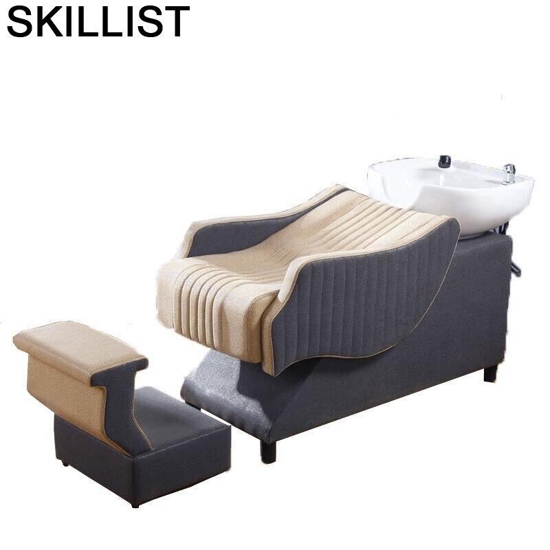 Silla Barber Shop Hairdresser For Beauty Makeup De Cabeleireiro Bed Hair Salon Furniture Cadeira Maquiagem Shampoo Chair