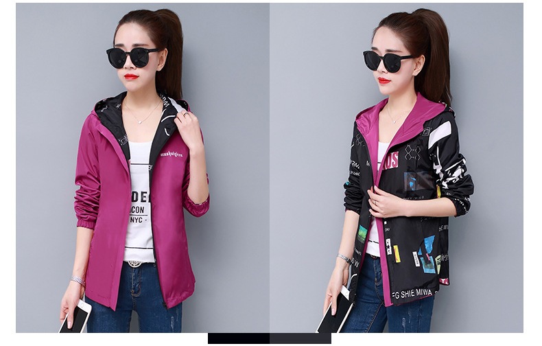 H3b735c96bfbd4a599adf199a3b249111H Streetwear Hooded Printed jacket women And Causal windbreaker Basic Jackets 2019 New Reversible baseball Zippers jacket 4XL