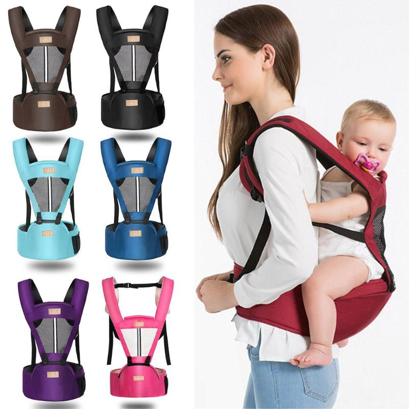 Summer Portable Newborn Baby Kangaroo Carrier Breathable Toddler Infant Sling Wrap Waist Stool Hipseat Flexible Fabric Safe
