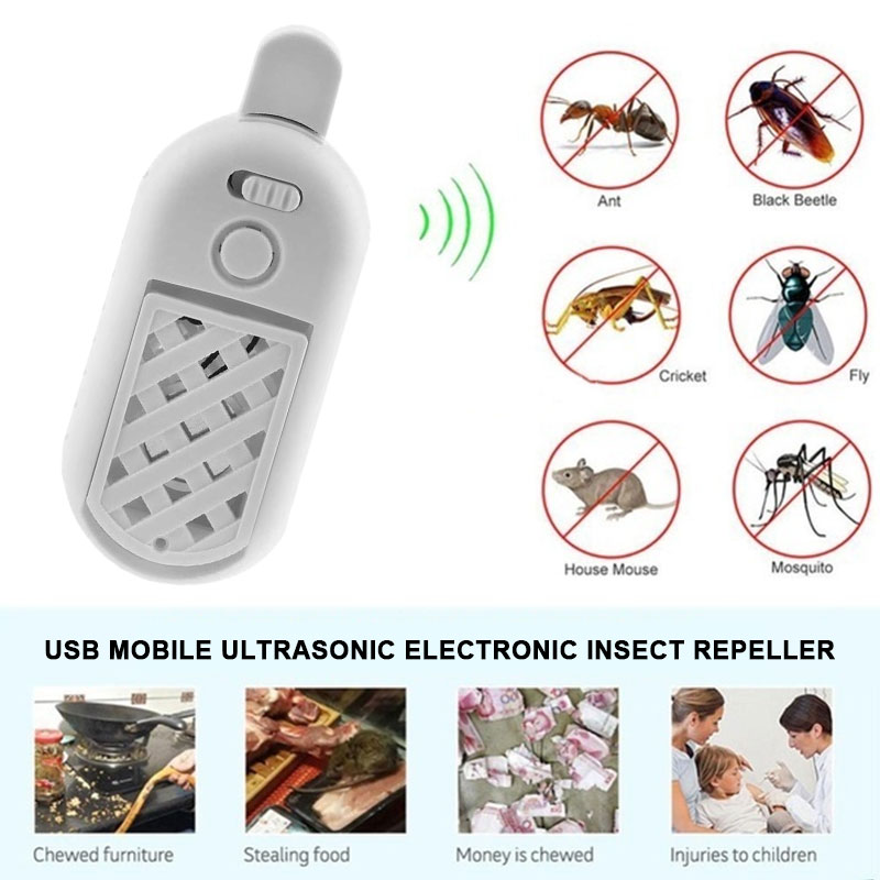 Mouse Expeller USB Office Mosquito Killer Ultrasound Pest Control Ultrasonic Multi-Functional Car Fly Rats Cockroach