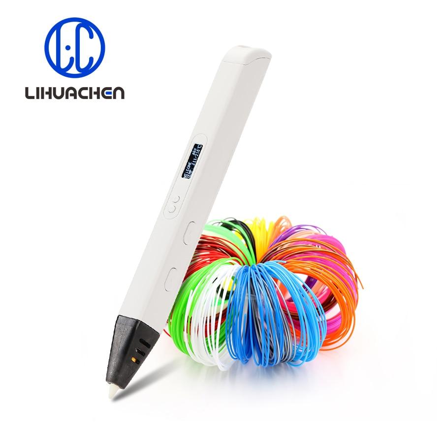 Lihuachen-Bolígrafo de impresión de dibujo en 3D, lápiz profesional RP800A con pantalla OLED, para imprimir manualidades artísticas y juguetes educativos, con potencia de 10W