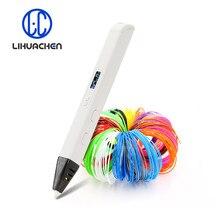Lihuachen rp800a caneta de impressão 3d com display oled caneta de desenho 3d profissional para desenhar arte artesanato fazendo e brinquedos educativos