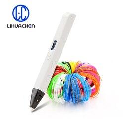 Lihuachen RP800A ثلاثية الأبعاد الطباعة القلم مع شاشة OLED المهنية ثلاثية الأبعاد قلم رسم لخربش الفن الحرفية صنع ولعب التعليم