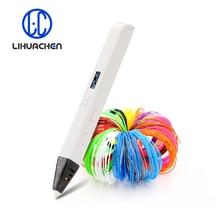 Lihuachen RP800A 3D Printing Pen Met Oled scherm Professionele 3D Tekening Pen Voor Doodling Art Craft Maken En Onderwijs Speelgoed