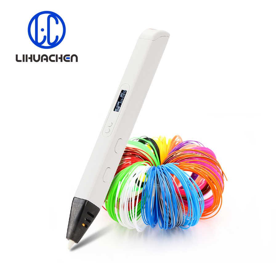 Lihuachen RP800A 3D pióro do dekorowania z wyświetlaczem OLED profesjonalne pióro do rysowania 3D do doodlingu rzemiosło artystyczne i zabawki edukacyjne
