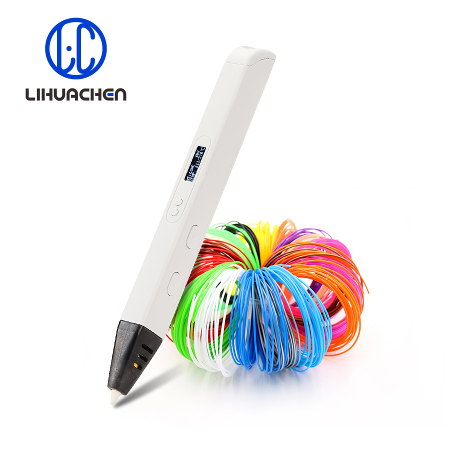 lihuachen RP800A 3D Printing Pen with OLED Display Professional 3D Drawing Pen for Doodling Art Craft Making and Education toys title=