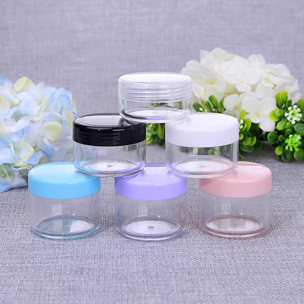 Nieuwe 10G/15G/20G Lege Plastic Makeup Nail Art Bead Opslag Container Draagbare Cosmetische Crème jar Pot Doos Ronde Fles Reizen Kit