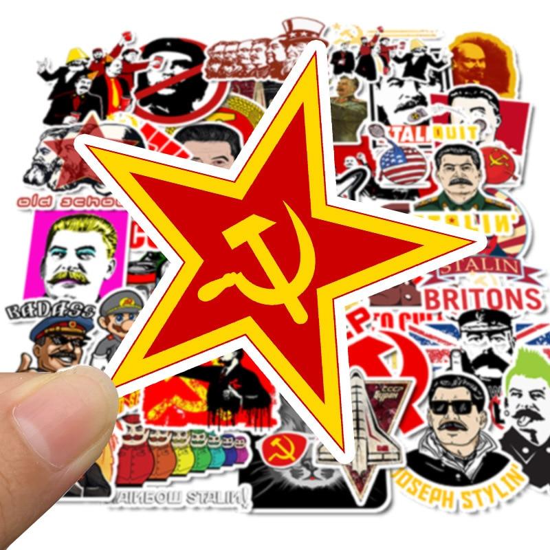 50 Pcs World War II Russian Comrade Joseph Stalin Leninist Political Propaganda Soviet Union USSR CCCP Poster Retro Stickers