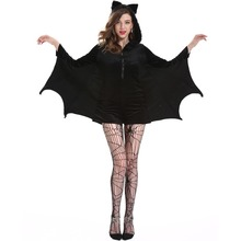 Vampire Cosplay Clothes M-4XL Large Size Bat Man Clothing Halloween Clothing Black Vampire Uniform for Girls Festive Set Costume halloween costumes for girls princess dress kids vampire clothes cosplay bat set for party outfit boys costume children clothing