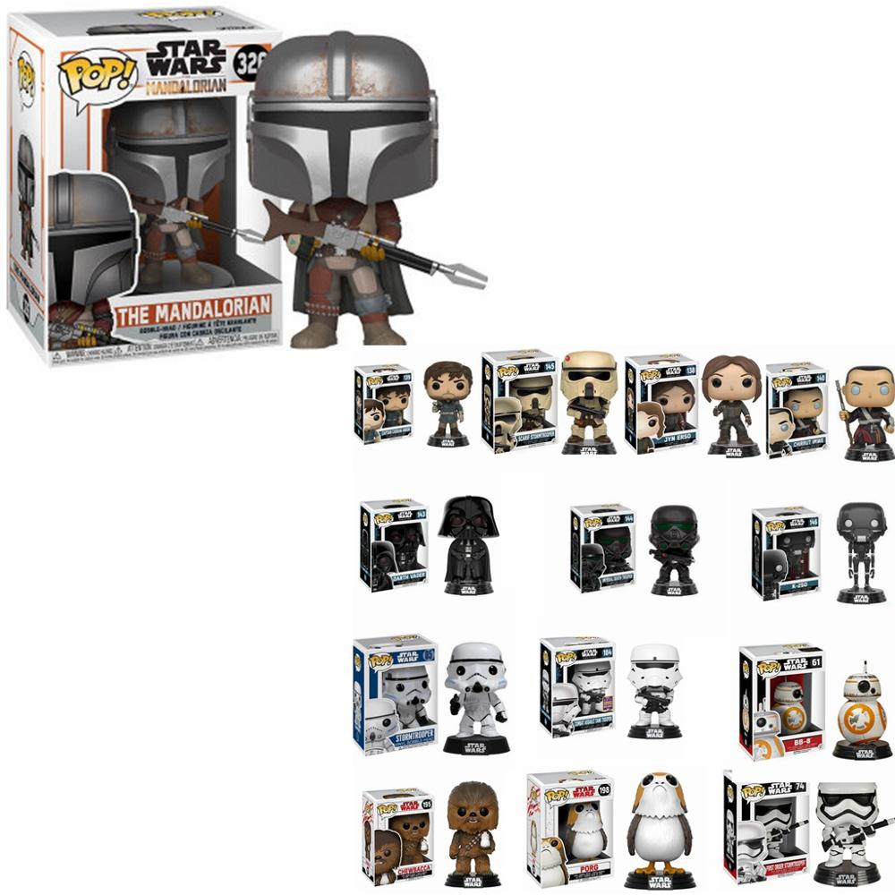 FUNKO POP Newest Star Wars Action Toys Model & Figure Toy The Mandalorian 326#  Figures Model