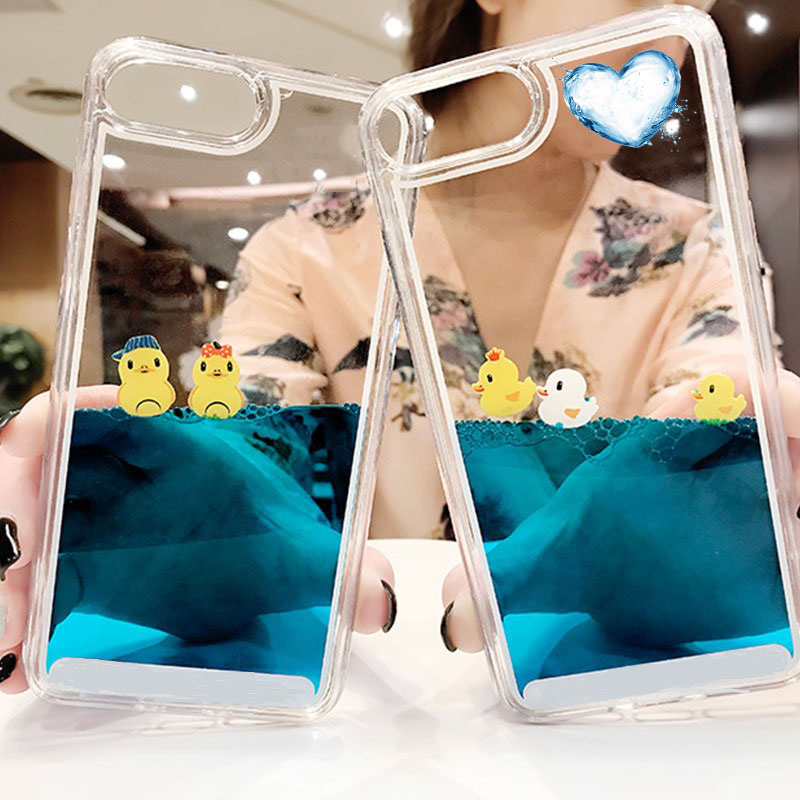 H3b73db9911d34eaf92781018a53112aaa - Luxury Cartoon 3D Swimming Duck for iPhoneXS Animal Dynamic Liquid Quicksand Cover For iPhone 5 5S 5SE 6 6S 7 8 Plus Phone Cases